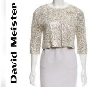 David Meister Sequin Bolero / Open front Jacket